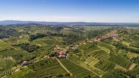 Goriska Brda from above Stock Image