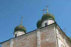 Goritsky修道院的Dormition大教堂在Pereslavl-Z 免版税库存图片