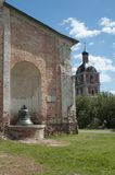 Goritsky修道院的Dormition大教堂在Pereslavl-Z 免版税图库摄影