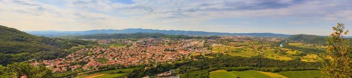 Gorizia en Nova Gorica Stock Foto's
