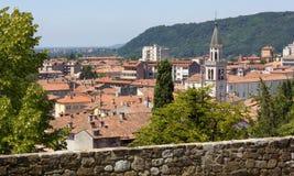 Gorizia från dess slott parkerar Arkivfoton