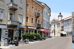 Gorizia, Italy. Historic architecture of Gorizia, Italy Stock Photo
