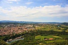 Gorizia y Nova Gorica Imágenes de archivo libres de regalías