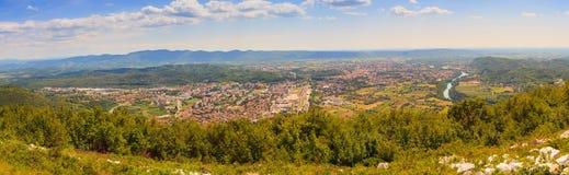 Gorizia y Nova Gorica Fotos de archivo libres de regalías