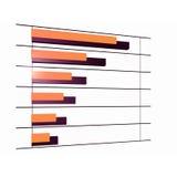 Gorizontal diagram waarop de groei stock illustratie