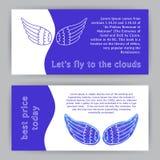Gorizontalmalplaatje met Vleugels Royalty-vrije Stock Afbeelding