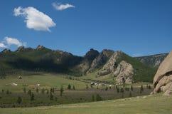 gorkhi蒙古国家公园terelj 库存照片