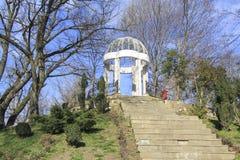 Gorkiy park. Retro terrace Royalty Free Stock Photography