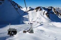 Gorky Gorod halny kurort w Krasnaya Polyana oferuje wokoło 27 km narciarscy bieg wszystkie trudność poziomy Zdjęcie Royalty Free
