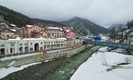 Gorky Gorod - sezonu hazard i miejscowość wypoczynkowa dzielimy 540 metrów nad poziom morza Zdjęcie Stock