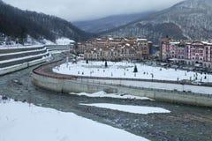 Gorky Gorod - sezonu hazard i miejscowość wypoczynkowa dzielimy 540 metrów nad poziom morza Zdjęcia Stock