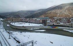 Gorky Gorod - sezonu hazard i miejscowość wypoczynkowa dzielimy 540 metrów nad poziom morza Obrazy Royalty Free