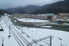Gorky Gorod - sezonu hazard i miejscowość wypoczynkowa dzielimy 540 metrów nad poziom morza Obraz Royalty Free