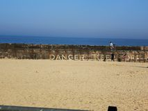 Gorleston Beach Danger stock photos