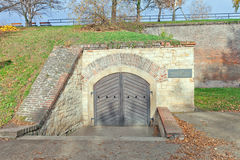 Gorlice casemate (1700) in Vysehrad fort in Prague. UNESCO site Royalty Free Stock Photo