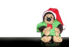 Gorlila-Affe dool im Weihnachtskonzept Lizenzfreie Stockbilder