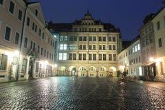 Gorlitz bij nacht Royalty-vrije Stock Afbeeldingen