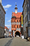 Gorlitz historic city center. Image was taken in 2011 in Gorlitz Royalty Free Stock Image