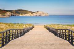 Gorliz boardwalk to the beach Royalty Free Stock Images