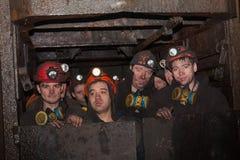 Gorlovka; Ukraine - 26. Februar; 2014: Bergmänner Stockfoto