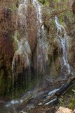 Gorman Falls in Colorado Bend State Park royalty free stock photography