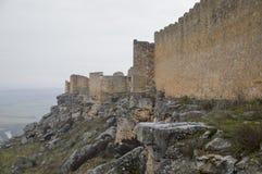 Gormaz castle exterior fog Stock Photography