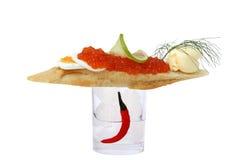 Gormet Caviar Snack Royalty Free Stock Photography