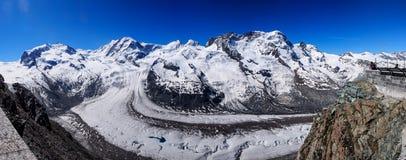 Gorner glaciär Fotografering för Bildbyråer
