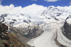 The Gorner Glacier (Gornergletscher), Switzerland,  Alps Stock Images