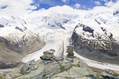 The Gorner Glacier (Gornergletscher), Switzerland,  Alps Royalty Free Stock Images