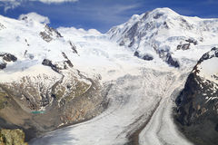 The Gorner Glacier (Gornergletscher), Switzerland,  Alps Stock Photo