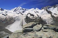 The Gorner Glacier (Gornergletscher) in Switzerland Royalty Free Stock Photo