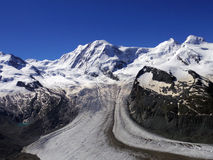 The Gorner Glacier, majestic view Switzerland Royalty Free Stock Photos