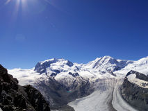 The Gorner Glacier, majestic view Switzerland Stock Photo