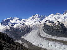 The Gorner Glacier, majestic view Switzerland Stock Photos