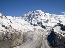 Gorner glacier on the Swiss Alps Stock Images