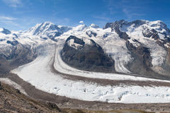 Gorner glacier Royalty Free Stock Photos