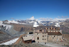 Gornergrad observatory Stock Image