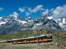 gornergrat τραίνο της Ελβετίας Στοκ εικόνες με δικαίωμα ελεύθερης χρήσης