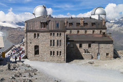 Gornergrat astronomisch waarnemingscentrum Stock Foto