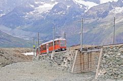 Swiss railway. Royalty Free Stock Image