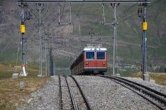 Gornergrat bahn. Die Schweiz. lizenzfreie stockfotografie