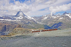 Gornergrat bahn. Die Schweiz. stockbilder