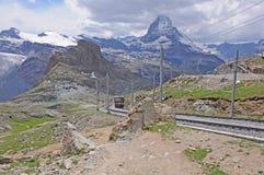 Gornergrat bahn. Die Schweiz. lizenzfreie stockfotos