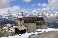 Gornergrat Beobachtungsgremium, die Schweiz stockfotografie