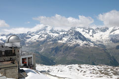Gornergrat cable car station Royalty Free Stock Photography
