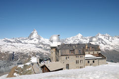 Gornergrat observation station Stock Photography