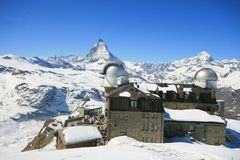 Gornergrat Observatory Royalty Free Stock Photo