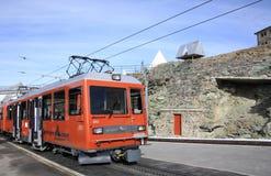 Gornergrat railway station Stock Photo