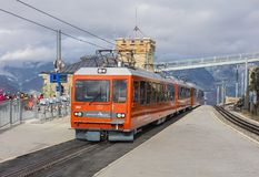 Gornergrat railway station royalty free stock photography